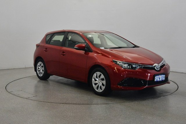 Used Toyota Corolla ZRE182R Ascent S-CVT, 2017 Toyota Corolla ZRE182R Ascent S-CVT Red 7 Speed Constant Variable Hatchback