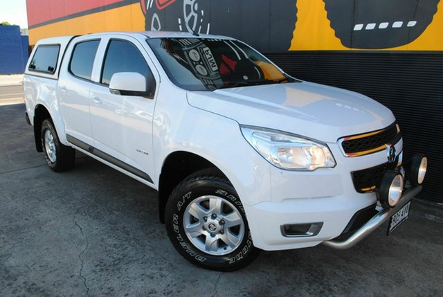 Used Holden Colorado RG MY13 LT Crew Cab, 2013 Holden Colorado RG MY13 LT Crew Cab Summit White 6 Speed Sports Automatic Utility