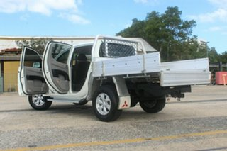 2014 Mitsubishi Triton MN MY15 GLX Double Cab White 4 Speed Sports Automatic Utility.