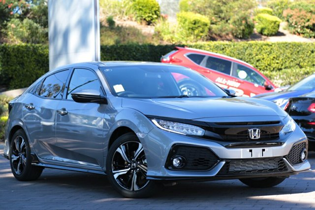 New Honda Civic 10th Gen MY18 RS, 2018 Honda Civic 10th Gen MY18 RS Lunar Silver 1 Speed Constant Variable Hatchback