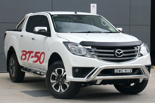 Demo Mazda BT-50 UR0YG1 XTR 4x2 Hi-Rider, 2018 Mazda BT-50 UR0YG1 XTR 4x2 Hi-Rider Cool White 6 Speed Sports Automatic Utility