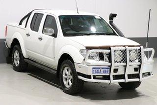 2011 Nissan Navara D40 ST-X 550 (4x4) White 7 Speed Automatic Dual Cab Utility