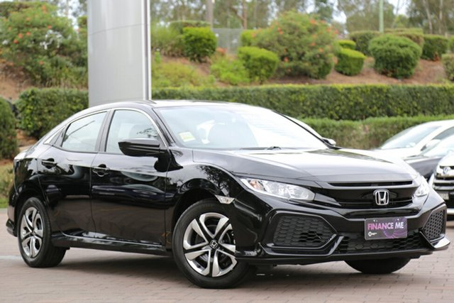 New Honda Civic 10th Gen MY18 VTi, 2018 Honda Civic 10th Gen MY18 VTi Crystal Black 1 Speed Constant Variable Hatchback