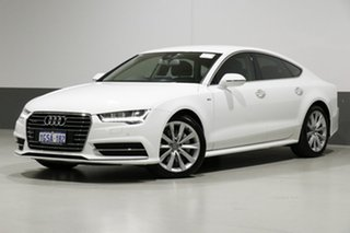 2015 Audi A7 4G MY15 Sportback 3.0 TDI Quattro White 7 Speed Auto Direct Shift Hatchback.