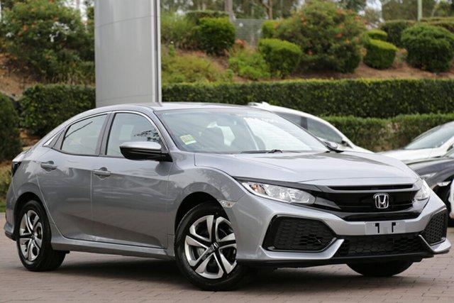 New Honda Civic 10th Gen MY18 VTi, 2018 Honda Civic 10th Gen MY18 VTi Lunar Silver 1 Speed Constant Variable Hatchback