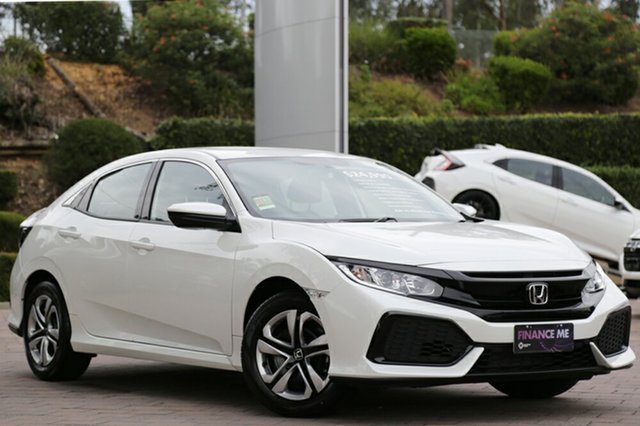New Honda Civic 10th Gen MY18 VTi, 2018 Honda Civic 10th Gen MY18 VTi White Orchid 1 Speed Constant Variable Hatchback