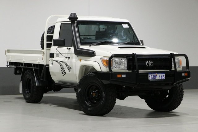Used Toyota Landcruiser VDJ79R 09 Upgrade Workmate (4x4), 2011 Toyota Landcruiser VDJ79R 09 Upgrade Workmate (4x4) White 5 Speed Manual Cab Chassis