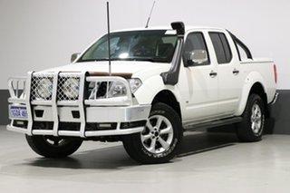 2011 Nissan Navara D40 ST-X 550 (4x4) White 7 Speed Automatic Dual Cab Utility.