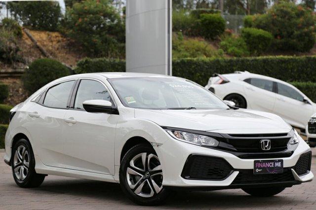 New Honda Civic 10th Gen MY18 VTi, 2018 Honda Civic 10th Gen MY18 VTi White Orchid 1 Speed Constant Variable Hatchback