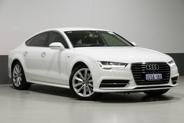 Used Audi A7 4G MY15 Sportback 3.0 TDI Quattro, 2015 Audi A7 4G MY15 Sportback 3.0 TDI Quattro White 7 Speed Auto Direct Shift Hatchback