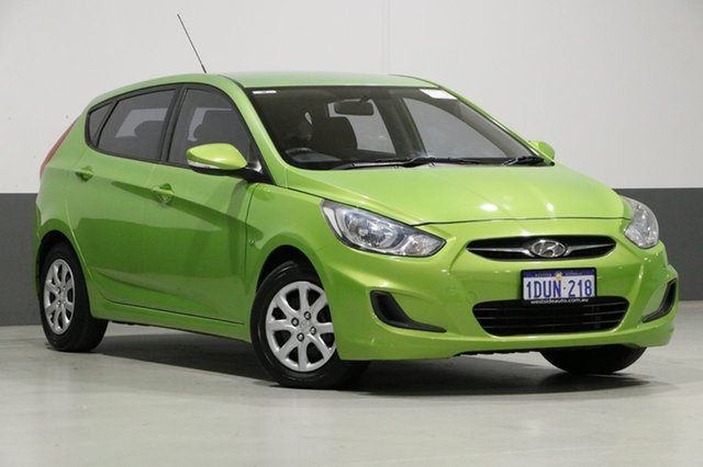 Used Hyundai Accent RB Active, 2012 Hyundai Accent RB Active Green 4 Speed Automatic Hatchback