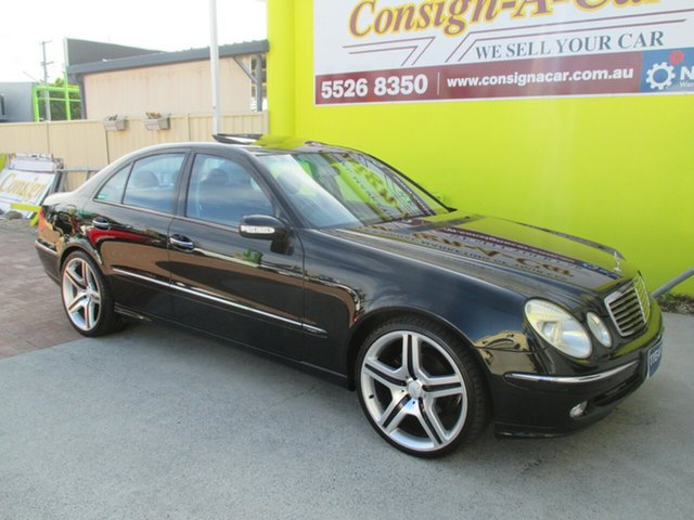 Used Mercedes-Benz E320 W211 Avantgarde, 2002 Mercedes-Benz E320 W211 Avantgarde Black 5 Speed Sports Automatic Sedan