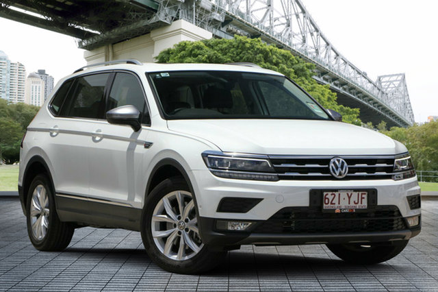 Used Volkswagen Tiguan 5N MY18 132TSI Comfortline DSG 4MOTION Allspace, 2018 Volkswagen Tiguan 5N MY18 132TSI Comfortline DSG 4MOTION Allspace White 7 Speed