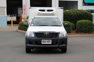 2014 Toyota Hilux TGN16R MY14 Workmate 4x2 Glacier 4 Speed Automatic Cab Chassis.