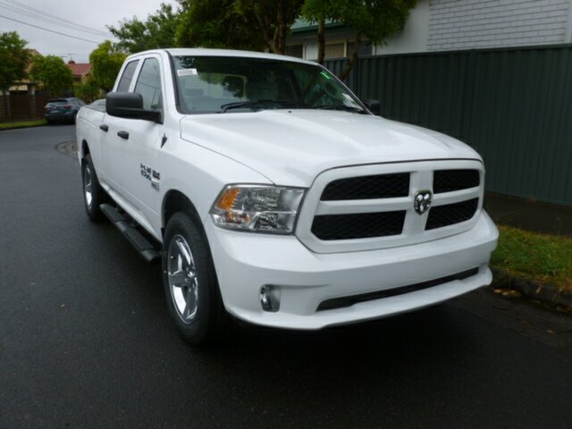 Demo Ram 1500 MY18 Express (4x4) W/Ramboxes, 2019 Ram 1500 MY18 Express (4x4) W/Ramboxes Bright White 8 Speed Auto Dual Clutch Coach
