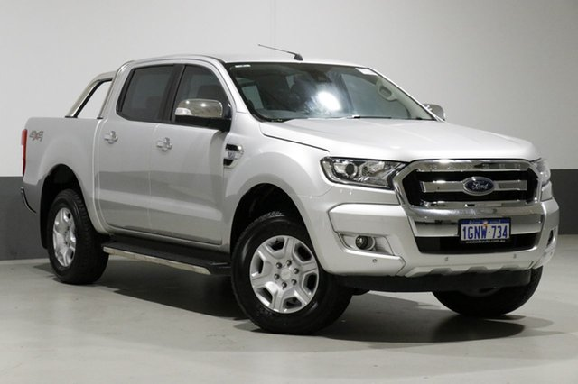 Used Ford Ranger PX MkII MY18 XLT 3.2 (4x4), 2018 Ford Ranger PX MkII MY18 XLT 3.2 (4x4) Silver 6 Speed Manual Dual Cab Utility