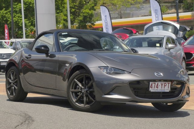Demo Mazda MX-5 ND RF SKYACTIV-MT, 2018 Mazda MX-5 ND RF SKYACTIV-MT Machine Grey 6 Speed Manual Targa