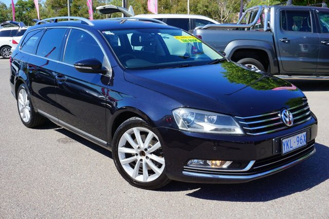 Used Volkswagen Passat Type 3C MY11 125TDI DSG Highline, 2011 Volkswagen Passat Type 3C MY11 125TDI DSG Highline Black 6 Speed Sports Automatic Dual Clutch