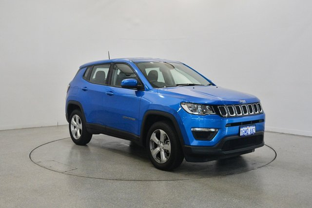 Used Jeep Compass M6 MY18 Sport FWD, 2018 Jeep Compass M6 MY18 Sport FWD Hydro Blue Pearl 6 Speed Automatic Wagon