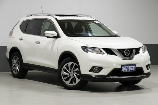 Used Nissan X-Trail T32 TL (FWD), 2014 Nissan X-Trail T32 TL (FWD) White Continuous Variable Wagon