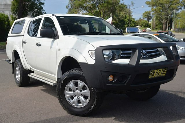 Used Mitsubishi Triton MN MY13 GLX Double Cab, 2013 Mitsubishi Triton MN MY13 GLX Double Cab White 5 Speed Manual Utility