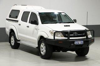 2011 Toyota Hilux KUN26R MY11 Upgrade SR (4x4) White 5 Speed Manual Dual Cab Pick-up