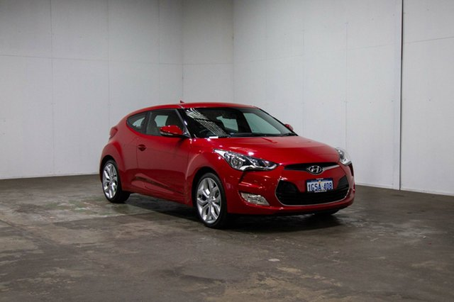 Used Hyundai Veloster FS2 Coupe, 2014 Hyundai Veloster FS2 Coupe Red 6 Speed Manual Hatchback