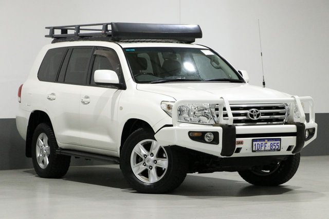 Used Toyota Landcruiser VDJ200R Sahara (4x4), 2009 Toyota Landcruiser VDJ200R Sahara (4x4) White 6 Speed Automatic Wagon