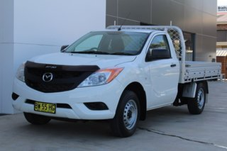 2013 Mazda BT-50 XT XT White Manual Cab Chassis - Single Cab.