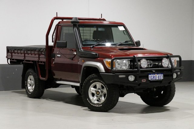 Used Toyota Landcruiser VDJ79R MY12 Update GXL (4x4), 2016 Toyota Landcruiser VDJ79R MY12 Update GXL (4x4) Merlot 5 Speed Manual Cab Chassis