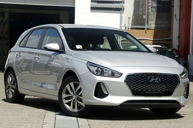 New Hyundai i30 PD2 MY19 Active, 2018 Hyundai i30 PD2 MY19 Active Platinum Silver Metallic 6 Speed Sports Automatic Hatchback