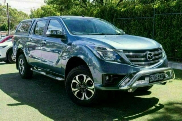 Demo Mazda BT-50 UR0YG1 GT, 2018 Mazda BT-50 UR0YG1 GT Blue Reflex 6 Speed Sports Automatic Utility