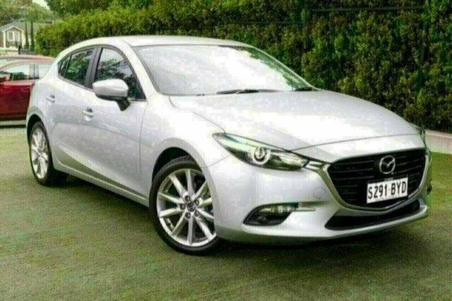 Demo Mazda 3 BN5438 SP25 SKYACTIV-Drive GT, 2018 Mazda 3 BN5438 SP25 SKYACTIV-Drive GT Sonic Silver 6 Speed Sports Automatic Hatchback