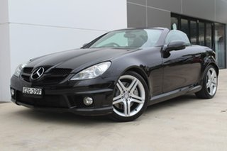 2010 Mercedes-Benz SLK300 R171 MY10 7G-Tronic Black 7 Speed Sports Automatic Roadster.