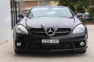 2010 Mercedes-Benz SLK300 R171 MY10 7G-Tronic Black 7 Speed Sports Automatic Roadster