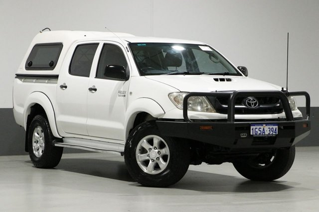 Used Toyota Hilux KUN26R MY11 Upgrade SR (4x4), 2011 Toyota Hilux KUN26R MY11 Upgrade SR (4x4) White 5 Speed Manual Dual Cab Pick-up