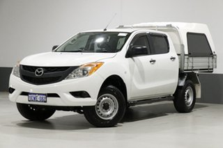 2015 Mazda BT-50 MY13 XT Hi-Rider (4x2) White 6 Speed Manual Dual Cab Chassis.