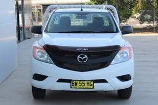 2013 Mazda BT-50 XT XT White Manual Cab Chassis - Single Cab