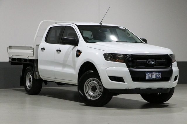 Used Ford Ranger PX MkII MY17 XL 3.2 (4x4), 2017 Ford Ranger PX MkII MY17 XL 3.2 (4x4) White 6 Speed Automatic Crew Cab Chassis