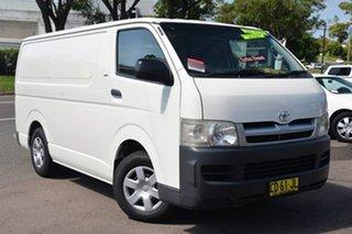 2007 Toyota Hiace KDH201R LWB White 5 Speed Manual Van.