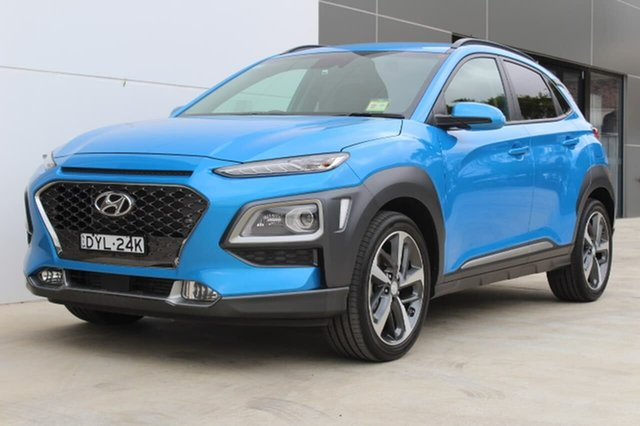 Used Hyundai Kona  Highlander, 2017 Hyundai Kona Highlander Highlander Blue Sports Automatic Dual Clutch Wagon