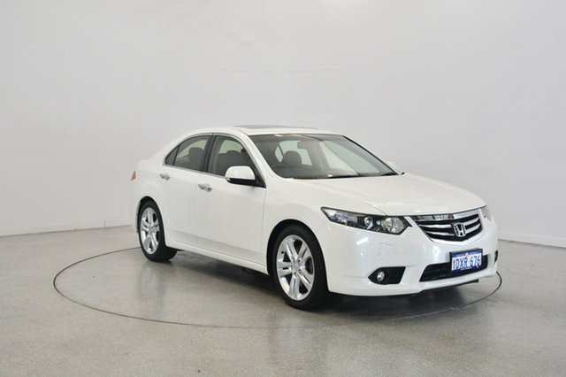 Used Honda Accord Euro CU MY12 Luxury, 2012 Honda Accord Euro CU MY12 Luxury White 6 Speed Manual Sedan