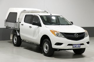 2015 Mazda BT-50 MY13 XT Hi-Rider (4x2) White 6 Speed Manual Dual Cab Chassis