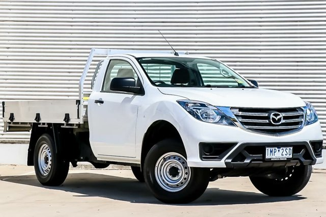 Demo Mazda BT-50 UR0YE1 XT 4x2 Hi-Rider, 2018 Mazda BT-50 UR0YE1 XT 4x2 Hi-Rider Cool White 6 Speed Sports Automatic Cab Chassis