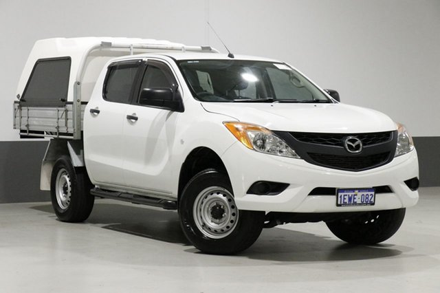 Used Mazda BT-50 MY13 XT Hi-Rider (4x2), 2015 Mazda BT-50 MY13 XT Hi-Rider (4x2) White 6 Speed Manual Dual Cab Chassis