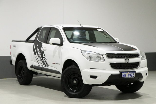 Used Holden Colorado RG MY15 LS (4x4), 2015 Holden Colorado RG MY15 LS (4x4) White 6 Speed Automatic Spacecab