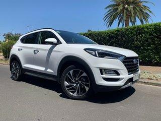 2018 Hyundai Tucson TL3 MY19 Highlander AWD Pure White 8 Speed Sports Automatic Wagon.