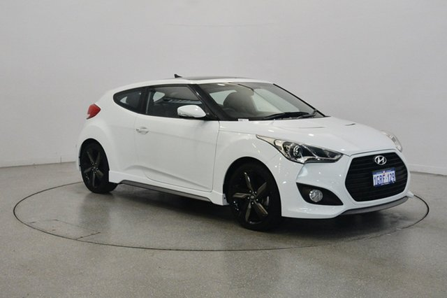 Used Hyundai Veloster FS3 SR Coupe Turbo, 2014 Hyundai Veloster FS3 SR Coupe Turbo White 6 Speed Manual Hatchback