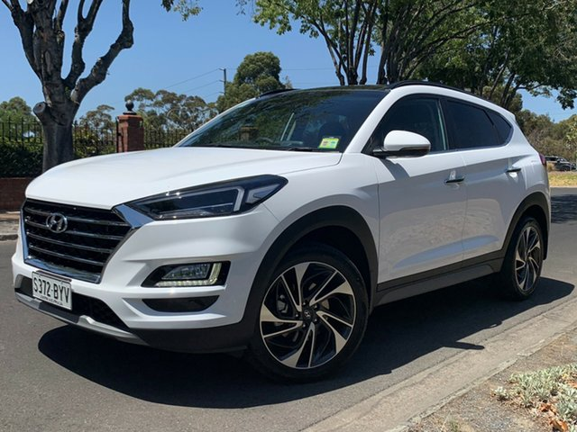 Demo Hyundai Tucson TL3 MY19 Highlander AWD, 2018 Hyundai Tucson TL3 MY19 Highlander AWD Pure White 8 Speed Sports Automatic Wagon
