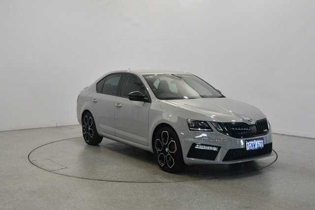 Used Skoda Octavia NE MY18.5 RS Sedan 245, 2018 Skoda Octavia NE MY18.5 RS Sedan 245 Steel Grey 6 Speed Manual Liftback